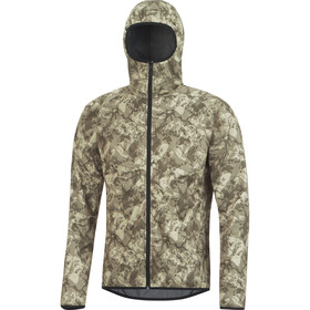GORE BIKE WEAR Element Urban Print WS Cykeljacka Herr beige/oliv